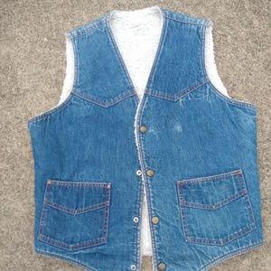 Other - Vintage H Bar C denim vest